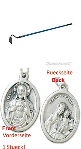 Ziehhacke, 1350 mm, Rübenhacke, Unkrauthacke, Gartenhacke, Jätmesser mit einem Anhänger Herz Jesu 2,5cm