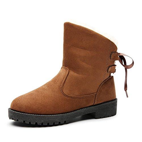 Bottes de neige bottes d'hiver grande taille mini cachemire chaud chaussures de coton