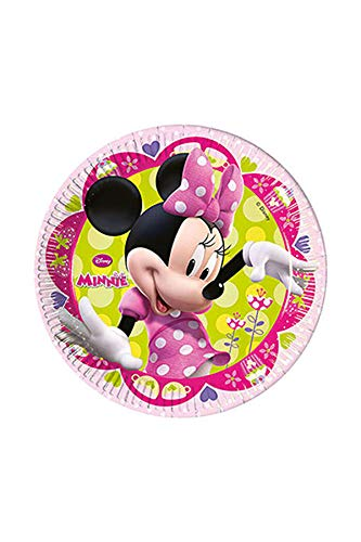 Assiette jetable Minnie Pastel
