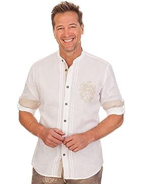 Trachtenhemd mit langem Arm - LEONAS - weiß