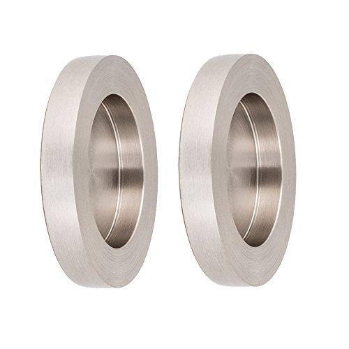 Manici a conchiglia da incollare, effetto acciaio inox, 70 x 10 mm, 1 paio