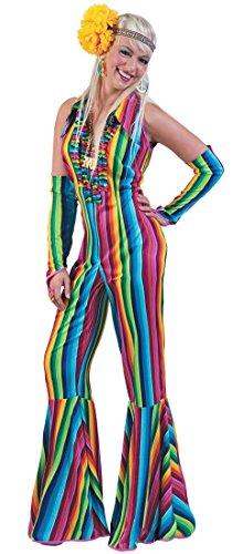 Hippie Girl Rainbow Kostüm 70er Jahre Damen Gr. 36 (Girl Rainbow Kostüm)