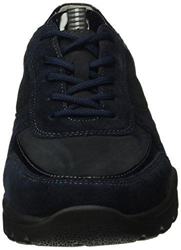 Waldläufer Haruka, Chaussures à Lacets Femme Bleu - Blau (VELOUR Denver Black-Cross Softlack deepblue notte)