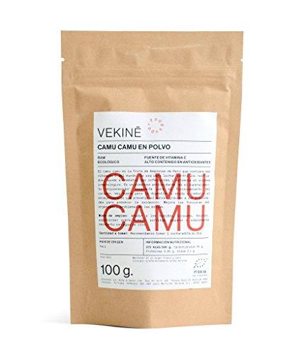 Camu Camu en polvo Ecológico 100 gr superalimentos VEKINE Calidad PREMIUM Vitamina C Smoothie batido licuado