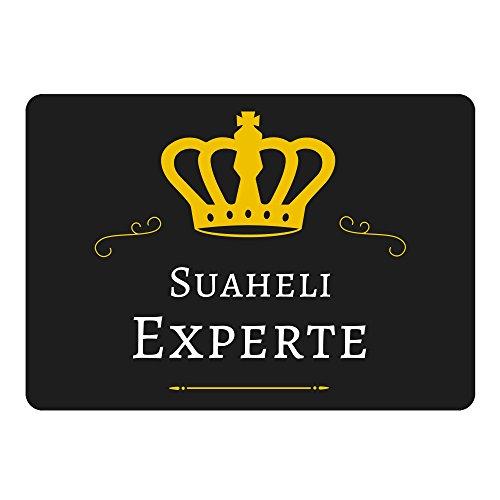 Mousepad Suaheli Experte schwarz