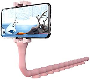 Flexibler Smartphone Selfie Stick Stand Lazy Worm Handy Saugnapf Handyhalterung Halter Kamera Stativ Halterung Klammer Für Iphone X 8 7 6 6s Plus Samsung S8 S7 Innerhalb Von 15 2 Cm Rose Elektronik