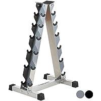 Mirafit - Vertikal-Ständer für Kurzhanteln - Schwarz oder Silberfarbig