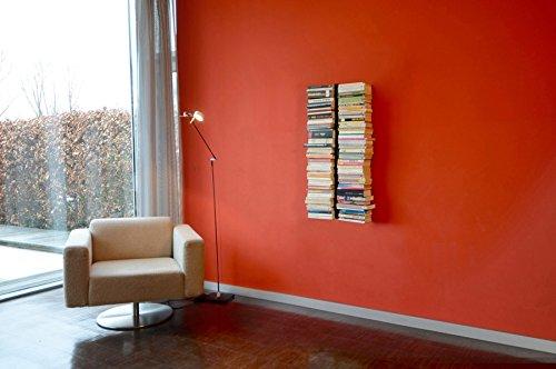 Radius Design - booksbaum Double - Bücherregal - Wand - klein - schwarz - 2tlg. Best.aus: Halterung + Einlegeböden