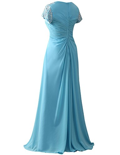 HUINI Damen Modern Kleid Korallenrot