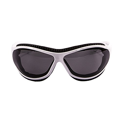 OCEAN SUNGLASSES - tierra de fuego - lunettes de soleil polarisÃBlackrolles  - Monture : Blanc Mat - Verres : FumÃBlackrolle (12200.3)