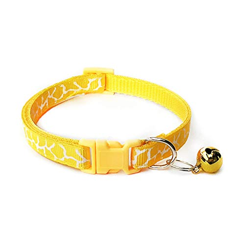 Templom SIX Reticulated 1.0 Patch Glocke Kragen Haustier Hund Katze Kragen(Gold)