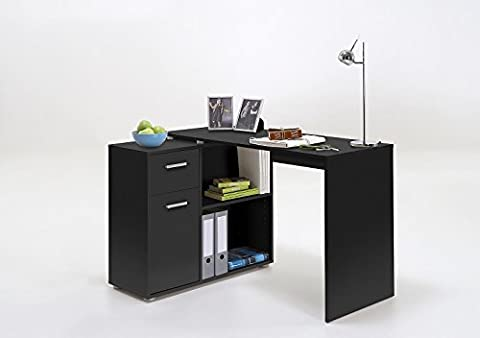 LEXA-Midi Corner Home Office Computer Desk Finished in Black SPECIAL OFFER PRICE NOW ONLY £99.99 FOR 1 MONTH ONLY