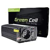 Green Cell® 300W Inverter Invertitore Onda Modificata di Tensione DC 12V AC 230V per Camper Auto Convertitore di Potenza, Trasformatore sinusoidale modificata per Auto Porta USB per Batteria Auto