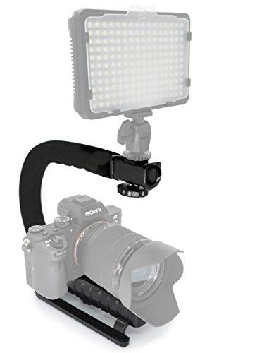 ilisator Stielhalterung - Camcorder Video filmen Halterung/Action Griff Tragehilfe für DSLR, DV + DC Wie Sony Nikon Canon usw. ()
