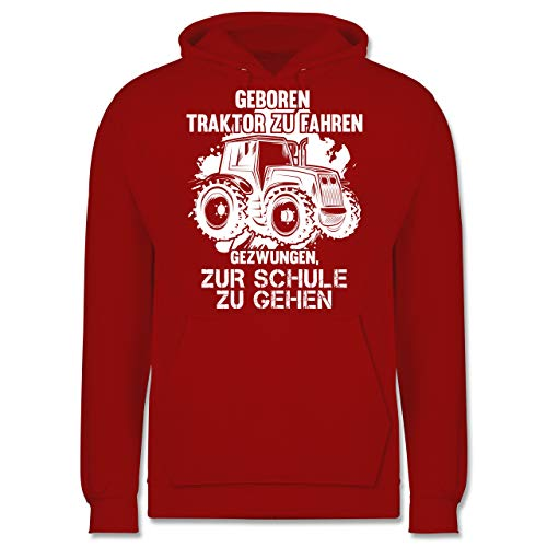Shirtracer Andere Fahrzeuge - Geboren um Traktor zu Fahren - M - Rot - JH001 - Herren Hoodie