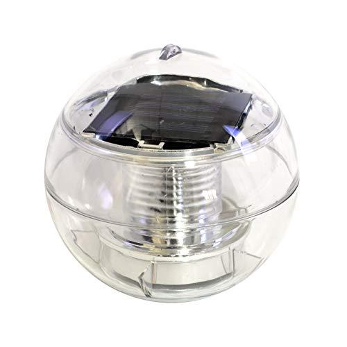 Nexos Solar Schwimmkugel 2 LED weiß Solarlampe Kugel 12 x 12 x 12,5 cm Teichbeleuchtung Solarkugel Dekolicht Solarbeleuchtung