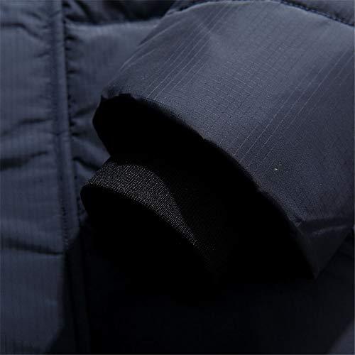 MAZF Winter Warme Lange Daunenjacke Mit Kapuze Pelzkragen Weiße Ente Daunenmantel Plus Blau M - 3