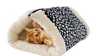 ANPI 2 in 1 Katze Tunnel und Matte, Warme Faltbare Weiche Mat Bett Nest Cave Bietet Komfortable Schlafen für Hund Katze Kaninchen Kleine Haustiere, 90*57cm (Punkt)