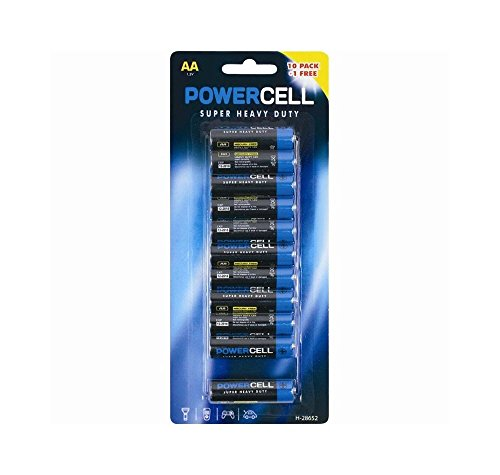 Price comparison product image 11 AA Powercell Batteries Heavy Duty Mercury Free LR6 1.5V Professional Pencil.