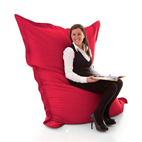 Avalon pouf poltrona cuscino gigante jive in tessuto antistrappo imbottito made in italy colore rosso