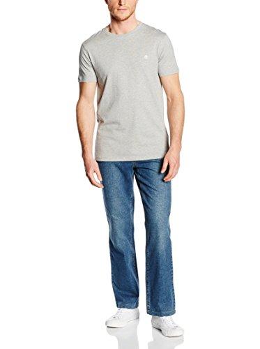 Timberland Herren T-Shirt Tfo Ss Lc Tree Tee Grau (Medium Grey Heather 052)