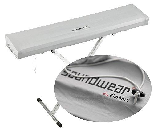 Soundwear Elastische Keyboard Abdeckhaube, 88 Tasten, 125 - 150 cm, silber