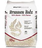 65 sacchi da 15kg di BRUNNEN HOLZ PELLET 100% abete TOP QUALITY