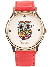 Classic Owl Red Wrist Watch