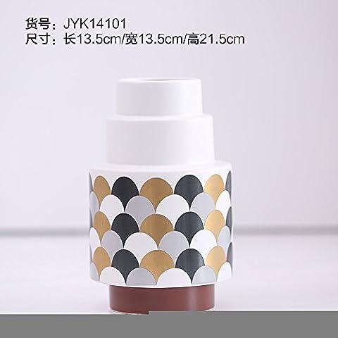 Fatte a mano moderno e semplice vaso di ceramica ornamenti pavimento decorazioni creative ,13,5*13,5*21.5cm