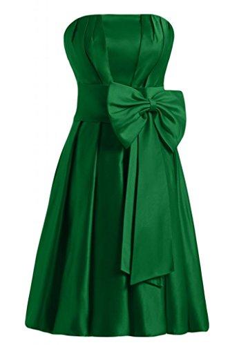Sunvary nuovo arrivo A-Line senza spalline Homecoming corto da Cocktail Party Dresses Hunter Green