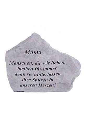 Gedenkstein Mama... aus Steinguss 18 x 14 cm Grabschmuck
