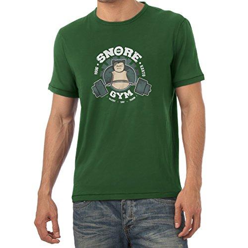 TEXLAB - Snore Gym - Herren T-Shirt Flaschengrün