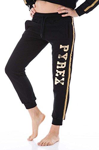 pyrex-pantaloni-donna-con-stampa-regular-fit-33085-l-nero