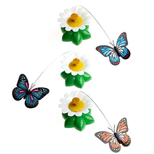 Ccgdgft Juguete Gato eléctrico Giratorio Mariposa