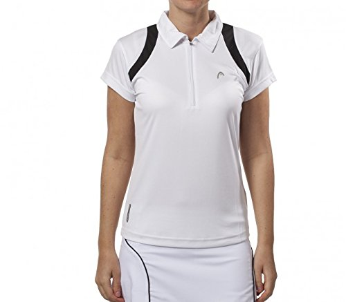 Head Damen Tennispolo Club, weiß/schwarz, S, DH081109S