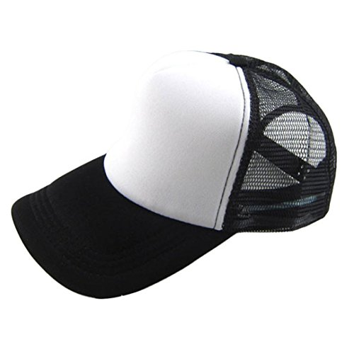 Amlaiworld Casual Unisex Hut solide Baseball Cap Trucker Mesh leer Visier einstellbare Hat (L) Leer Mesh Trucker Hats