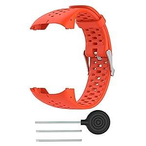 FOONEE - Silicone Strap for Polar Watch M400 M430, Replacement Bracelet Watch Strap for Polar M400 M430 GPS Running Smart Sports Watch, Orange
