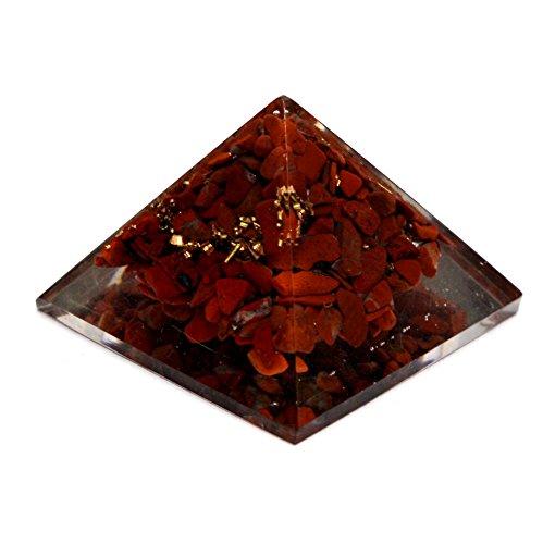 40-55mm Natur, Rot Jasper Energetische Pyramide, Energie Generator Gravur Wunderschön Pyramid (rot Jasper 40-55mm)