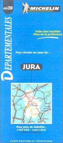 Carte routière : Jura, 4039, 1/150000