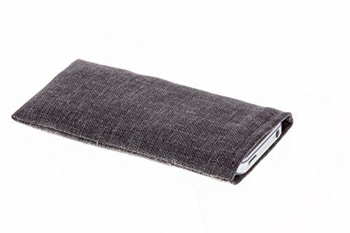 luvbag Gentlemen grau Hülle Hülle Tasche aus Business Stoff mit Microfaserinnenfutter für Samsung SGH-P510 Handyhülle