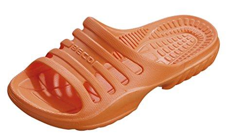 BECO Kinder Badepantolette / Badeschuh / Badelatschen orange 28