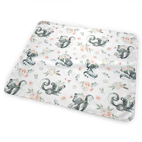 4 Boho Skunk_48157 Baby Bear Baby Portable Reusable Changing Pad Mat 31.5 X 25.5 inch (Skins Skunk)