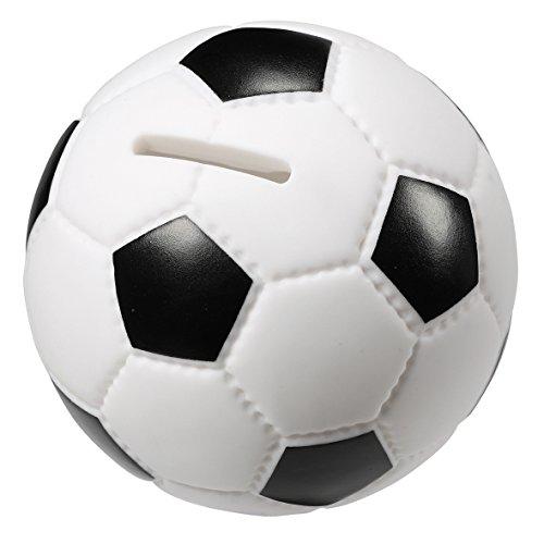 """Spardose """"Soccer"""" Sparbüchse im Fußball-Design Lederoptik"""