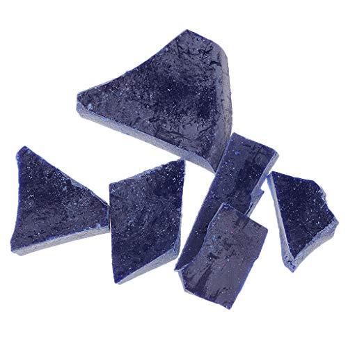 Sharplace 13 Farben Wachsfarbe für Kerzen zum einfärben Kerzengießen Kerzenwachs Kerze Pflanzen Wachs - Blau 020, 30x20mm