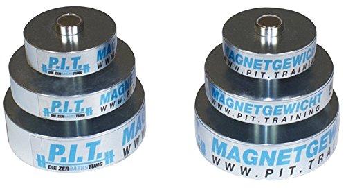 P.I.T.-Die ZerBAERStung Magnet Gewichte Set Perfekt für kleine Gewichtssteigerungen geeignet | Jeweils 2 Hantel Scheiben Gewicht 0,25kg, 0,5kg und - Verzinkt Scheibe 3 8