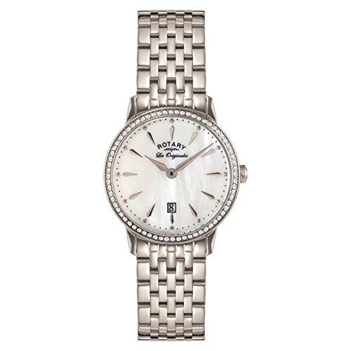 Rotary LB90050/41 - Reloj de Pulsera Mujer, Acero Inoxidable, Color Plateado