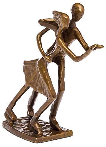 aubaho Skulptur Paarlauf Schlittschuhe Eiskunstlauf Bronze Figur Moderne Pokal Eislauf