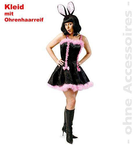 Black Bunny Kleid + Haarreif m. Ohren 36 - ()