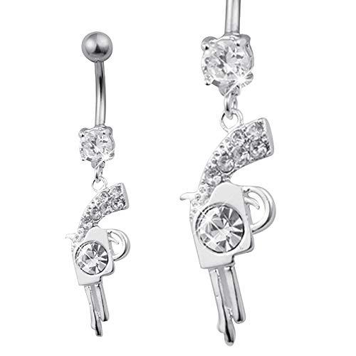 Piercing Bananabell Bauch Pistole silber Diamanten Diamond silver silber