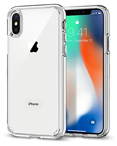 Spigen Ultra Hybrid (057CS22127) Case for Apple iPhone X (2017) - Crystal Clear